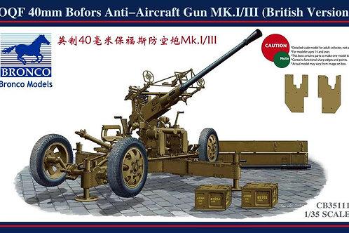 Bronco - OQF 40mm Bofors Anti-aircraft Gun 1/35