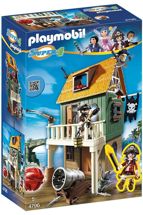 Playmobil 4796 Super 4 - Cloaked Pirate Fortress with Ruby