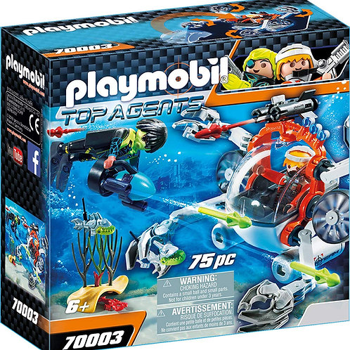 Playmobil 70003 Top Agents - Spy Team Sub Bot