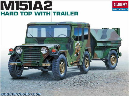 Academy - M151A2 Hard Top with Trailer 1/35