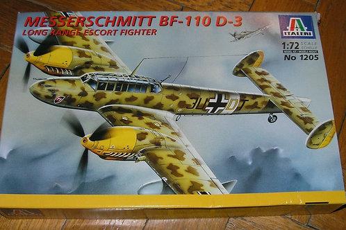 Italeri - Luftwaffe Messerschmitt Bf-110 D-3 1/72