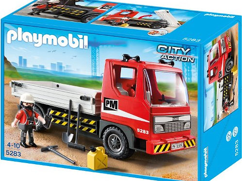 Playmobil 5283 City Action - Flatbed Construction Truck