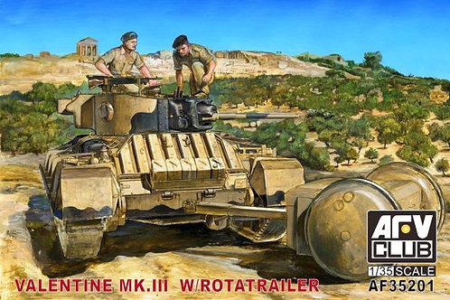 AFV Club - Valentine Mk.III with Rotatrailer 1/35