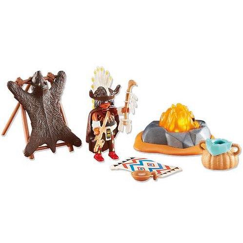 Playmobil 6477 - Medicine Man with Campfire