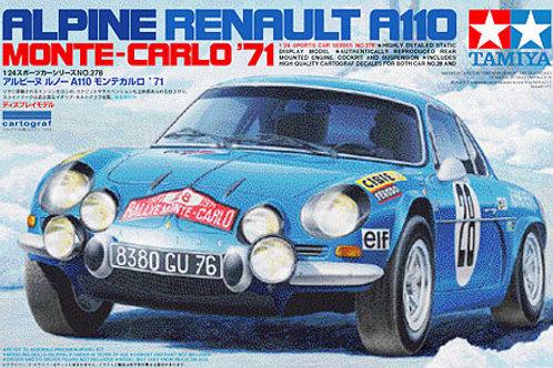 Tamiya - Renault Alpine A110 1971 Monte Carlo 1/24
