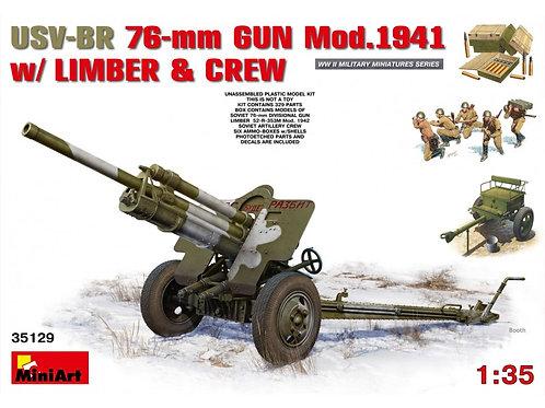 MiniArt - USV-BR 76mm Gun Mod.194 w/ Limber & Crew