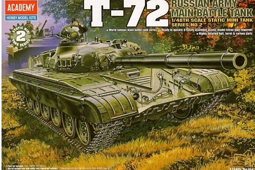 Academy - Russian T-72 Russian Army MBT 1/48