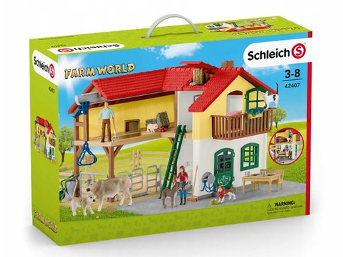 Schleich 42407 - Farmhouse with Stable and Animals