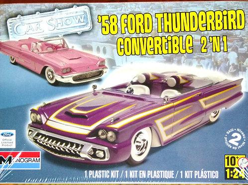Revell - '58 Ford Thunderbird Convertible Car 1/24
