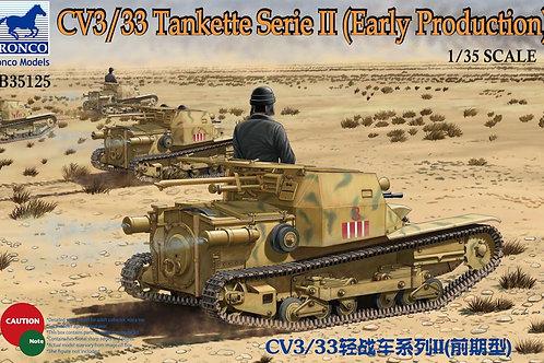Bronco - CV3/33 Tankette Serie II Early Prod. 1/35