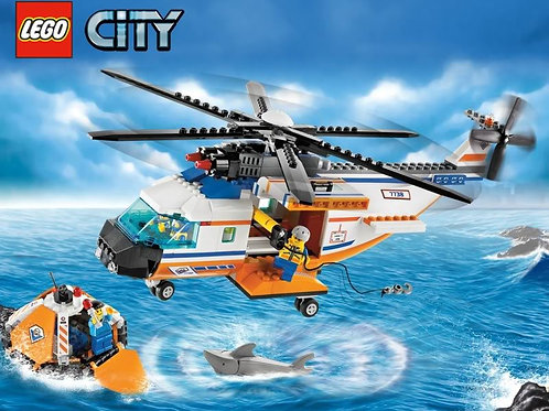 Lego 7738 City - Coast Guard Helicopter and Life Raft