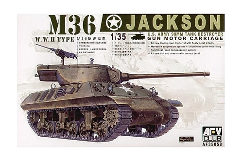 AFV Club - US 90mm Tank Destroyer M36 Jackson 1/35