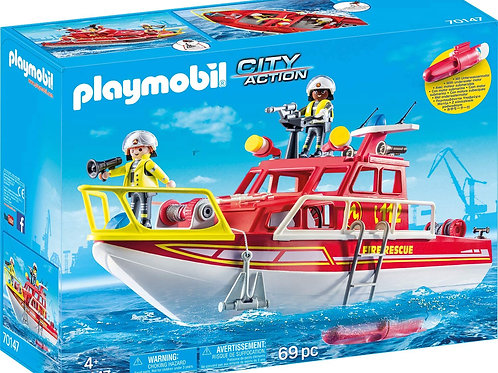 Playmobil 70147 City Action - Fire Rescue Boat