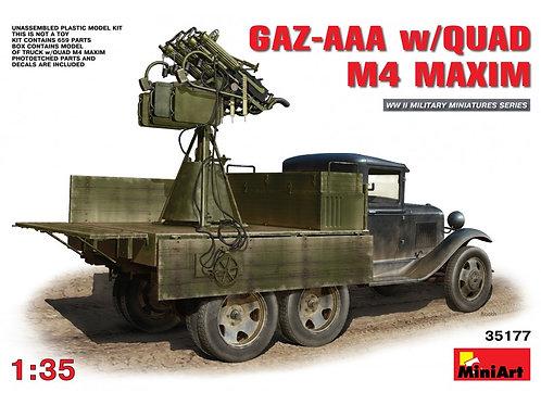 MiniArt - GAZ-AAA w/ Quad M4 Maxim 1/35