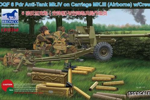 Bronco - OQF 6 Pdr Anti-Tank Gun Mk.IV on Carriage