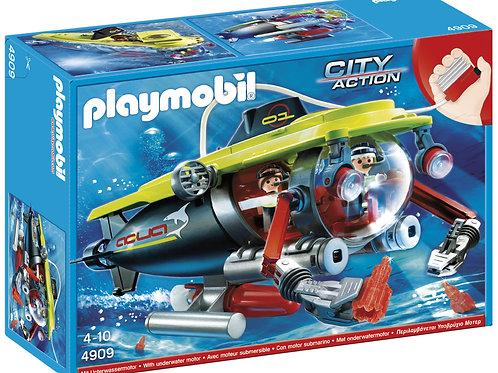 Playmobil 4909 - Deep Sea Submarine w/Underwater