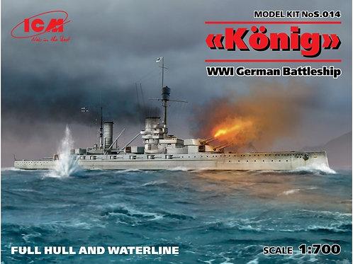 "ICM - WWI German Battleship ""Konig"" 1/700"