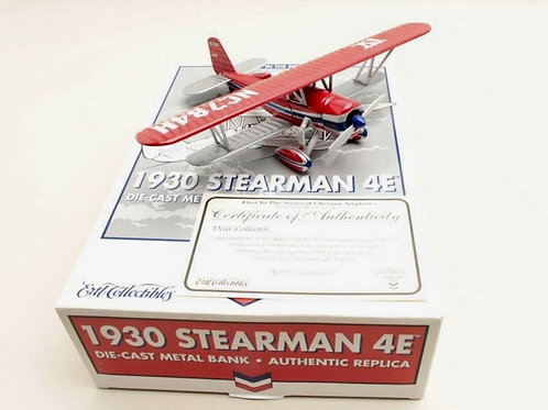 ERTL Collectibles - Chevron Planes 1930 Stearman 4E 1/38