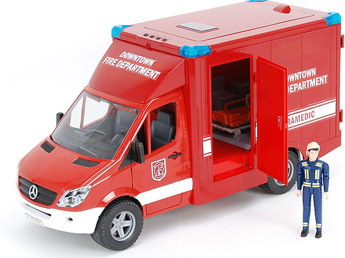 Bruder 02539 - MB Sprinter Paramedic with Fireman w/Lights and Sound 1/16