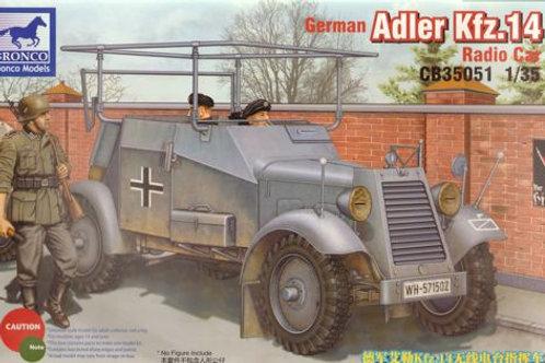 Bronco - German Adler Kfz.14 Radio Car 1/35