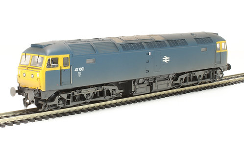 Bachmann - Class 47/0 47001 in BR Blue - weathered 1/76