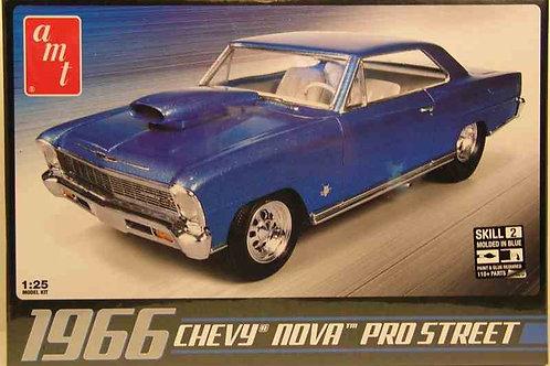 AMT - Blue 1966 Chevy Nova Pro Street 1/25