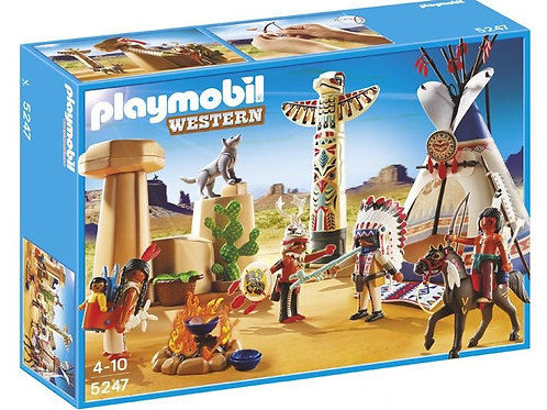 Playmobil 5247 - Native American Camp with Totem Pole