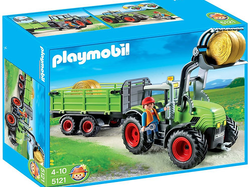 Playmobil 5121 Country - Farm Tractor Hay Bailer with Trailer
