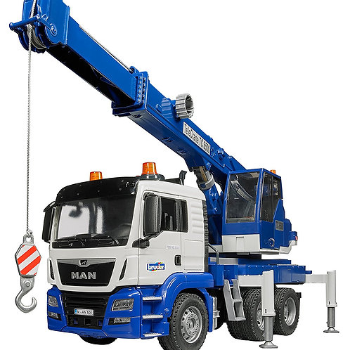 Bruder 03770 - Man Tgs Crane Truck With Light And Sound 1/16