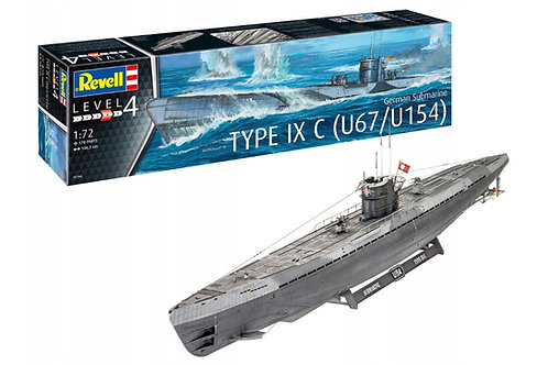 Revell - German U-Boot Type IXC (U67/U154) 1/72