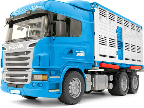 Bruder 03549 - Scania R-Series Cattle Transportation Truck with 1 Cattle 1/16