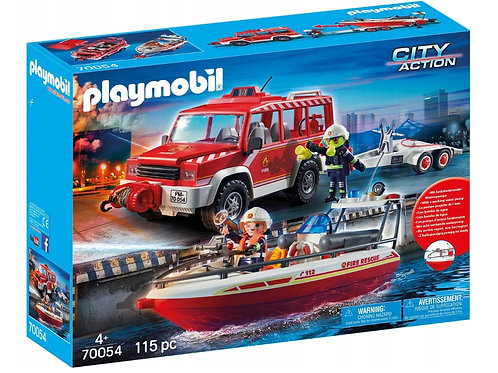 Playmobil 70054 City Action - Fire Engine with Fire Boat