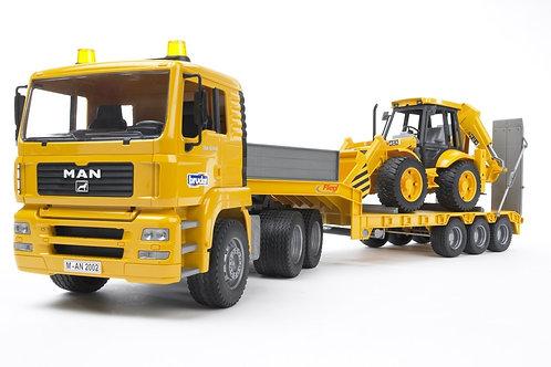 Bruder 02776 - Man TGA Low Loader Truck w. JCB 1/16