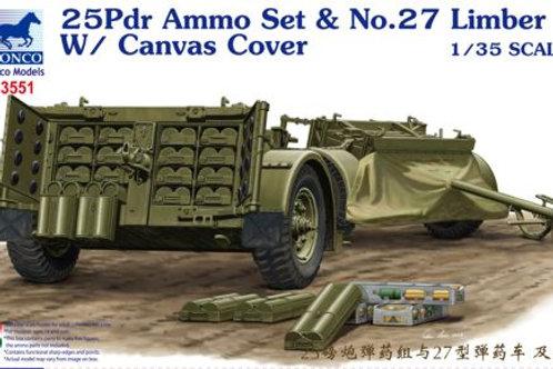 Bronco - 25Pdr Ammo Set & No.27 Limber w/Canvas