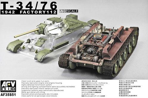 AFV Club -  T-34/76 1942 Factory 112 1/35