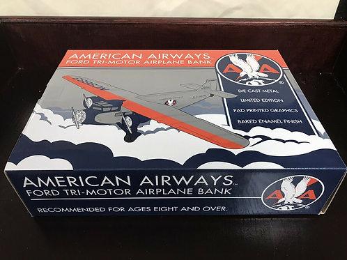 Spec Cast - American Airways Ford Tri-Motor Airplane Bank