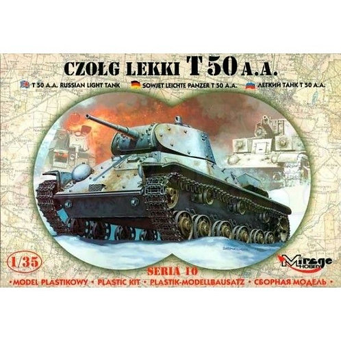 Mirage Hobby - Soviet Light Tank T 50 A.A. 1/35