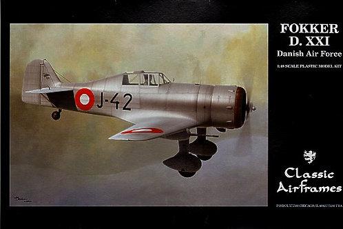 Classic Airframes - Fokker D.XXI Danish Air Force