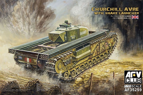 AFV Club - Churchill AVRE with snake launcher 1/35