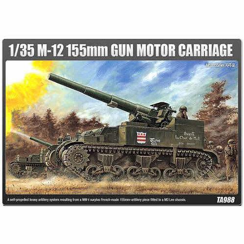Academy - M12 155 Gun Motor Carriage 1/35