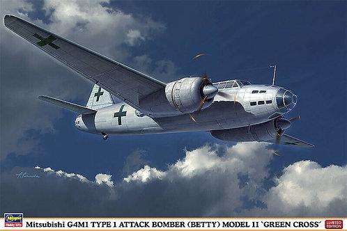 Hasegawa -  Mitsubishi G4M1 Type 1 Attack Bomber (Betty) Modell 11 1/72