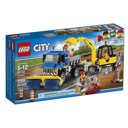 Lego 60152 City - Street Cleaner and Excavator