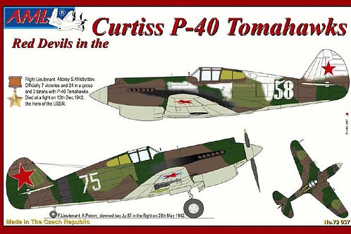 AML - Red Devils in Curtiss P-40 Tomahawks 1/72
