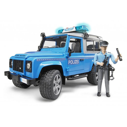 Bruder 02597 - Land Rover Defender Sw German Police 1/16