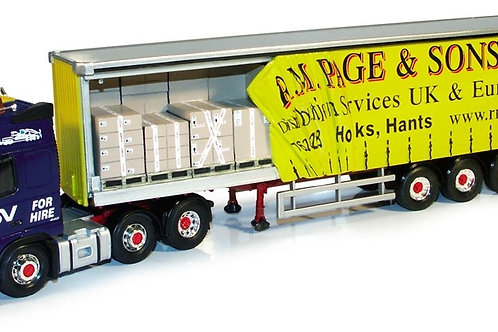 Corgi - Volvo FH12 Open Curtainside with Box Load - R M Page & Sons Ltd