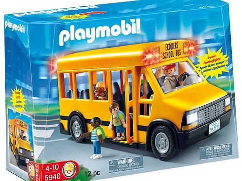 Playmobil 5940 - School Bus with Flashing Lights