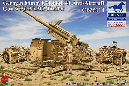 Bronco - 88mm L71 Flak 41 Anti-aircraft Gun 1/35