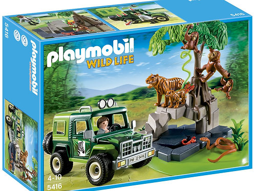 Playmobil 5416 Wild Life - SUV with Tigers and Orangutans