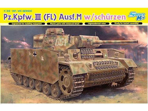 Dragon - Pz.Kpfw.III (FL) Ausf.M w. Schürzen 1/35