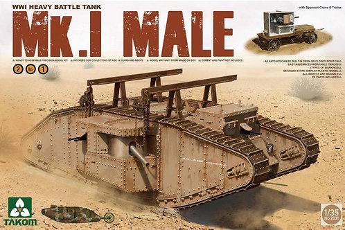 Takom - British WWI Heavy Tank Mk.I Male 1/35